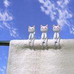 なにこれ!キュートでカワイイ☆ 猫をモチーフにした洗濯クリップ「ねこのおすわり洗濯ばさみ」