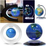 なにこれかっこいい☆ふわりと浮かぶ地球儀ライトインテリア「浮遊する地球儀」