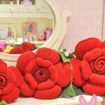 おしゃれかわいい☆抱き枕にもなるふわふわクッション「薔薇クッション」