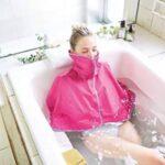 お風呂で羽織って半身浴☆ 熱気を逃さず発汗を促進できる「サウナケープ」