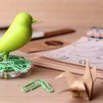 机の上をちょっとオシャレに可愛らしく☆ 小鳥をあしらったクリップホルダー「NEST SPARROW」