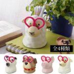 何これ、とってもキュート☆ ハサミをメガネにしたかわいい動物ステーショナリー「グルーミングツールホルダー」