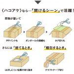 ハサミモードとハコアケモードの2WAY☆ 梱包を解くのにとっても便利なハサミ「ハコアケ」