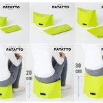 折りたたむとバッグにも入る薄い板状に☆ 携帯に便利な折りたたみ椅子「パタット」
