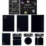 黒地だからスタイリッシュなデザインが書ける☆ 白字や鮮やかな色が映える黒い下地「ブラックシリーズ」