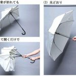 自ら折れて強風でも壊れない☆ 突風に煽られても危険が少ない傘「ポキッと折れるんです」