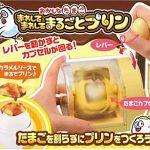 卵を割らずにぐるぐる回してそのままプリンに☆ ユニークなプリンメーカー「まわしてまわしてまるごとプリン」