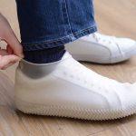靴だって雨から守りたい☆ ピチッと装着して安心の「シリコンレインシューズカバー」
