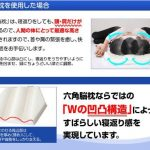 凹凸のW構造が快眠をサポート☆  寝返りを考慮したアイデアが人気の「六角脳枕」