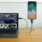 自由自在な角度に曲げて携帯をホールド☆ 使って便利なライトニングケーブル「Bobine Flex Lightning to USB」