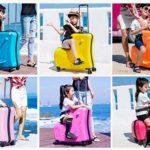 子どもと一緒に楽しい旅行☆ 子どもが乗れるユニークなキャリーケース「キッズキャリーケース」