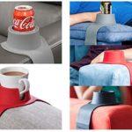 これは嬉しいアイデア☆ ソファーのアームレストに取り付けれるカップコースター「ソファー用ドリンクホルダー」