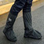 靴の上から履く長靴☆ 強めの雨でも安心な長靴のように長いタイプの「ロングタイプシューズカバー」