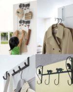 ドアを彩るインテリアフックにも☆ ドアに簡単に取り付けれるフックハンガー「ドアハンガー」