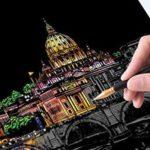ペンで削って色を掘り出す☆ 癒しを伴うヒーリングアートとしても人気の「スクラッチアート」
