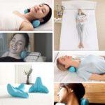 枕にして首をマッサージ☆ 自重で頚椎リフレッシュができる「重力指圧マッサージ枕」