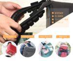 かかる圧力を分散して軽減☆ リュックやバッグのショルダーベルトに取り付ける「反重力肩パッド」
