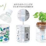 手軽に楽しむハーブや野菜のプチ菜園☆ ペットボトル型の底面給水栽培セット「育てるグリーンペット」