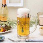 お酒の適量が一目瞭然☆ 飲み過ぎ注意の面白グラス「アルコール適量ジョッキ」
