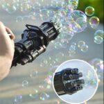 これはクセになりそう☆ シャボン玉を連射する「ガトリングバブルマシン」