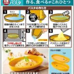 作る・食べるがこれ一つ☆ レンチンで手軽に作ってそのまま食べれる「お皿になるレンジでパスタ」