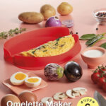 溶き卵と具材を入れて電子レンジでチンするだけ☆簡単にオムレツが作れる「Lekue オムレツメーカー」