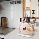 まな板や鍋蓋も収納できる☆ 便利に使える大容量なマルチツールスタンド「YTOPRO キッチンツールスタンド」