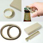 スタイリッシュなデザインが素敵☆ 使い込むと味わいの出る無垢の真鍮製「FUTAGAMIの栓抜き」